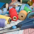 Foto Stock: Sewing supplies