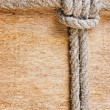 Foto Stock: Frame made of old rope