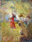 Pinturas al óleo y acrílico sobre papel — Foto de Stock