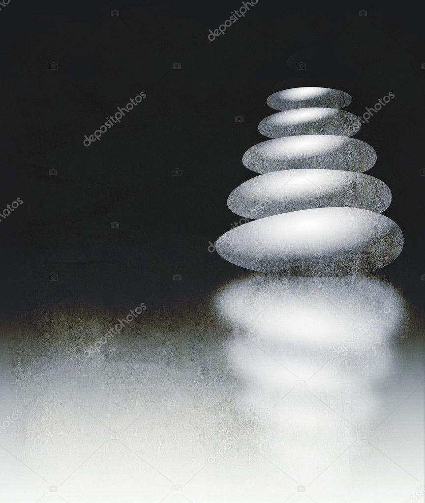Zen stones illustrated on textured background — Stock Photo #7858129