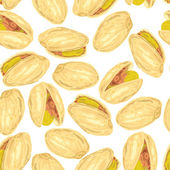Pistachios. Seamless background. — Stock Vector