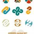 Stock Vector: Symbols with arrows.