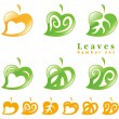Leaves symbol set. — Stock Vector