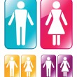 Royalty-Free Stock Vector Image: Male and female WC sign.