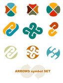 Symbols with arrows. — Stock Vector