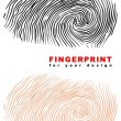 Stock Vector: Fingerprint.