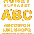 Honey alphabet. — Stock Vector