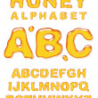Honey alphabet. — Stock Vector #7884032