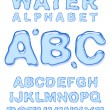 Water alphabet. — Stockvektor