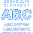 Water alphabet. - Stock Vector