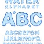 Water alphabet. — Stock Vector