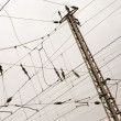 Stock Photo: Overhead contact wiring