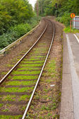 Single track railway stop — Stock Photo