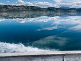 Motorboat Trip on Lake Laberge, Yukon T., Canada — Stock Photo