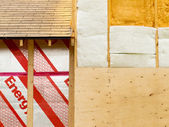 Wall insulation to save heating energy — Stock Photo