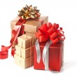Heap of present boxes — Stock Photo #7956441