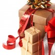 Heap of present boxes — Foto de Stock