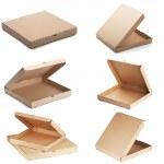 conjunto de cajas de pizza — Foto de Stock