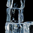 4 ice cubes macro 3 — Stock Photo