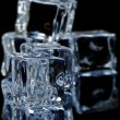 5 ice cubes macro 5 — Stock Photo