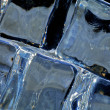 Ice cubes macro — Stock Photo