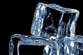 4 ice cubes macro 2 — Stock Photo