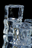 5 ice cubes macro 2 — Stock Photo