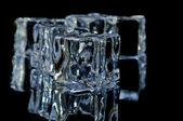 5 ice cubes macro 8 — Stock Photo