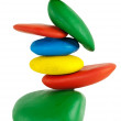 Colorfu Balancing stones — Stock Photo