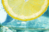 Splashing Lemon — Stock Photo
