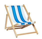 Deckchair (with clipping path) — Stock Photo