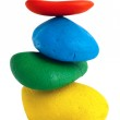 Colorful Balancing stones — Stock Photo