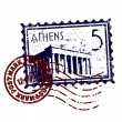 Vector illustration of stamp or postmark style grunge — Photo