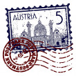 Foto Stock: Vector illustration of stamp or postmark of Austria