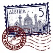 Vector illustration of stamp or postmark of Austria — Stock Photo