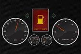 Vector illustration of car instrument panel — Stock Photo