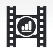 Vector illustration of volume video button — 图库照片