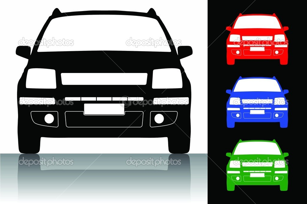 Vector illustration of car silhouette  Lizenzfreies Foto #6873604
