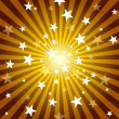 Stock Photo: Sun Rays and Stars