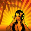 Girl DJ Wallpaper — Stock Photo #7288825