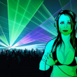 Girl DJ Wallpaper — Stock Photo