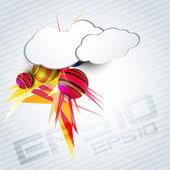 Cloud background — Stock Vector