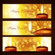 Stock Vector: Diwali headers set