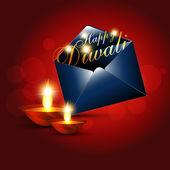 Diwali greeting — Stock Vector