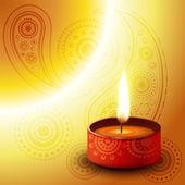 Diya Diwali — Vetor de Stock