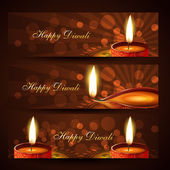 Diwali headers set — Stock Vector