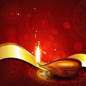 Beautiful hindu diwali diya festival vector art — Stock Vector