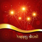 Beautiful hindu diwali festival vector art — Stock Vector