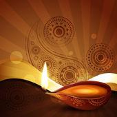 Diwali festival background — Stock Vector