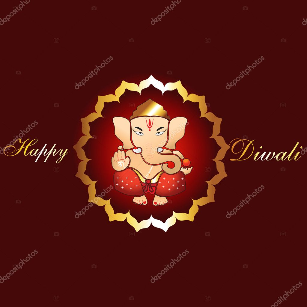 Beautiful spiritual hindu diwali festival background — Stock Vector #7153123